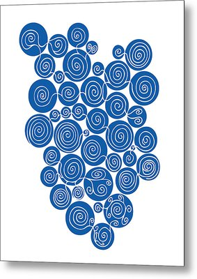Blue Abstract Metal Print by Frank Tschakert