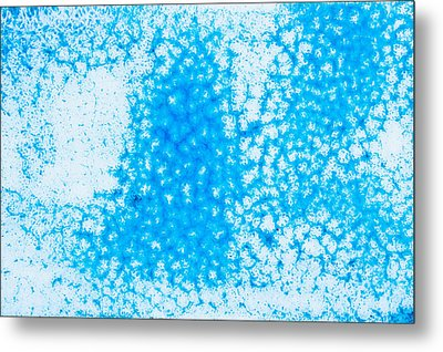 Blue Abstract Metal Print by Tom Gowanlock