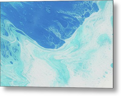 Metal Print featuring the painting Blue Abyss by Nikki Marie Smith