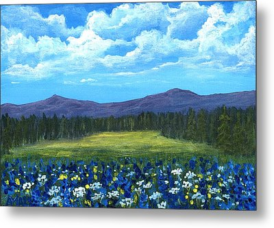 Metal Print featuring the painting Blue Afternoon by Anastasiya Malakhova