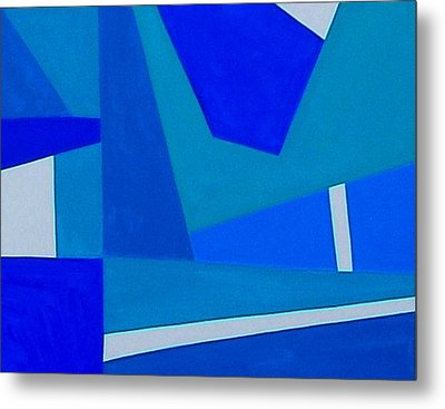 Blue Alert Detail 1 Metal Print by Dick Sauer