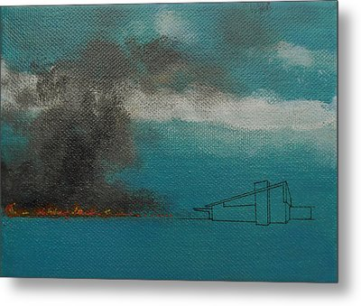 Blue Alexander With Brush Fire Metal Print