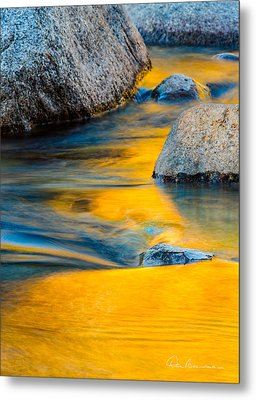 Blue And Gold 0557 Metal Print