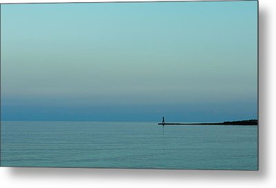 Blue And Peaceful Metal Print by Stelios Kleanthous