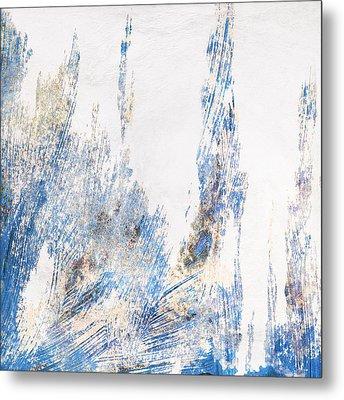 Blue And White Art - Ice Castles - Sharon Cummings Metal Print by Sharon Cummings