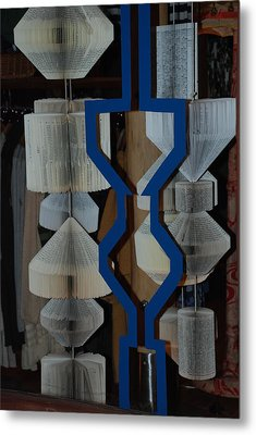 Blue And White Metal Print by Rob Hans