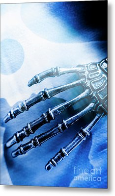 Blue Android Hand Metal Print