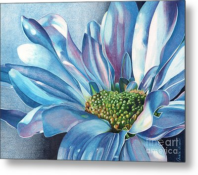 Metal Print featuring the painting Blue by Angela Armano