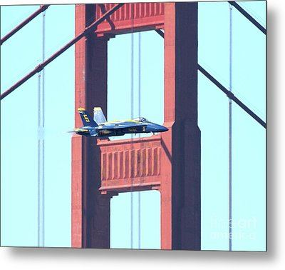 Blue Angels Crossing The Golden Gate Bridge 10 Metal Print by Wingsdomain Art and Photography