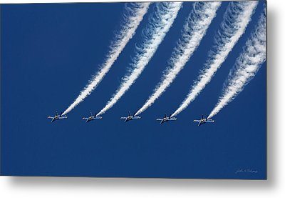 Blue Angels Formation Metal Print by John A Rodriguez