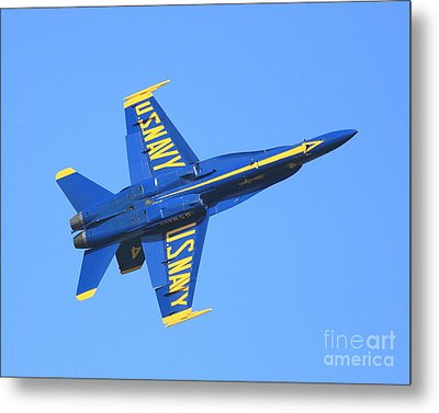 Blue Angels No.4 Metal Print by Wingsdomain Art and Photography