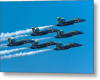 Blue Angels Metal Print by Sebastian Musial