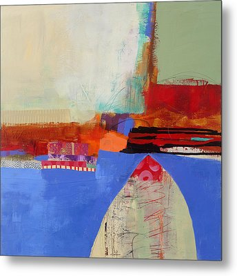 Blue Arch Metal Print by Jane Davies