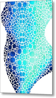 Blue Art - Colorforms 3 - Sharon Cummings  Metal Print by Sharon Cummings