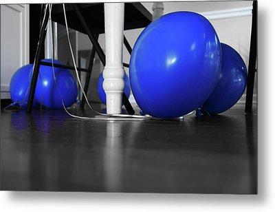 Blue Balloons Metal Print