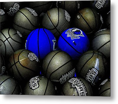 Blue Balls Metal Print by Ed Smith