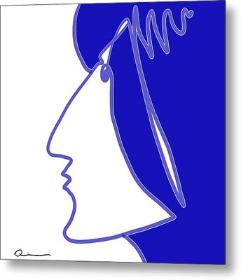 Blue Belle Metal Print