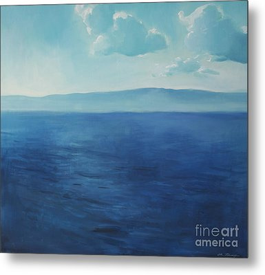 Blue Blue Sky Over The Sea  Metal Print