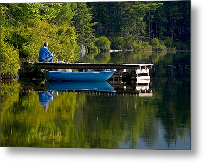 Blue Boat Metal Print by Brent L Ander
