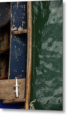 Blue Boat, Venice Metal Print by Art Ferrier