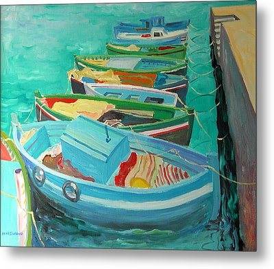 Blue Boats Metal Print by William Ireland