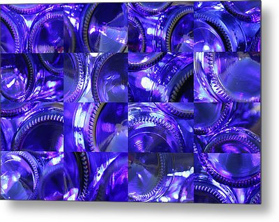 Blue Bottle Bottoms Metal Print