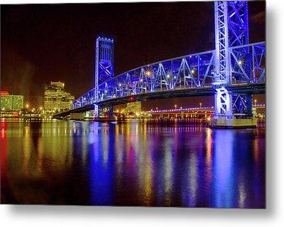 Blue Bridge 2 Metal Print by Arthur Dodd