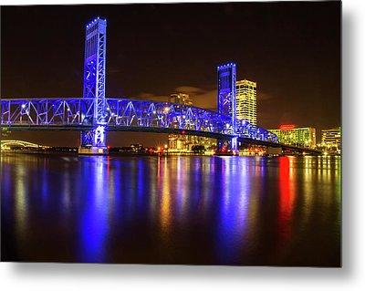 Metal Print featuring the photograph Blue Bridge 3 by Arthur Dodd