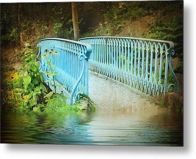 Blue Bridge Metal Print by Svetlana Sewell