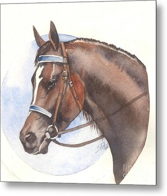 Metal Print featuring the painting Blue Bridle by Sandra Phryce-Jones
