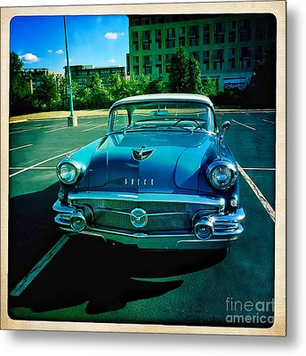 Blue Buick Metal Print by Terry Rowe