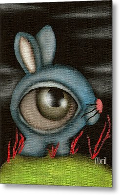 Blue Bunny Metal Print by  Abril Andrade Griffith