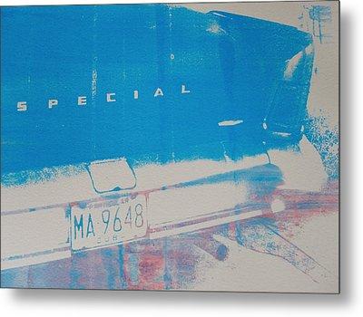 Blue Car Metal Print by David Studwell