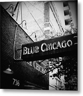 Blue Chicago Nightclub Metal Print by Kyle Hanson