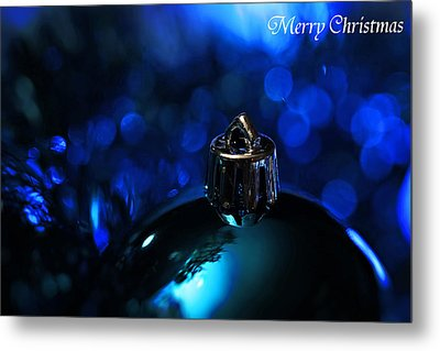 Blue Christmas Metal Print by Celestial  Blue