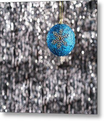 Metal Print featuring the photograph Blue Christmas by Ulrich Schade