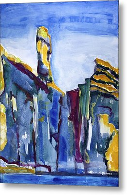 Blue Cliffs, Sea And Sky Metal Print