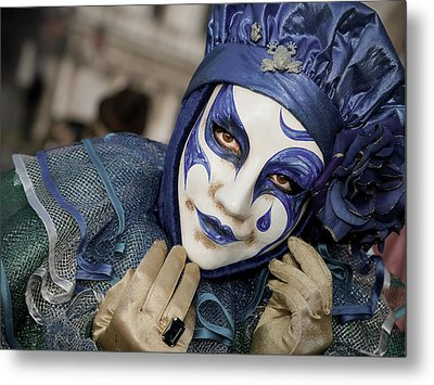Metal Print featuring the photograph Blue Clown by Stefan Nielsen