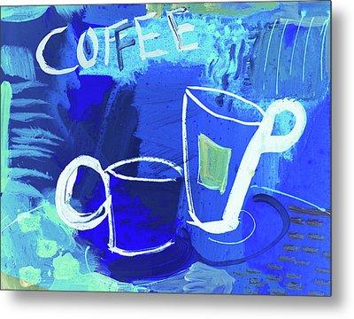 Blue Coffee Metal Print