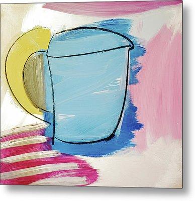 Blue Coffee Mug Metal Print