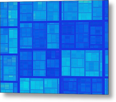 Blue Metal Print by Contemporary Art
