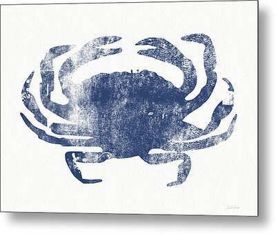 Blue Crab- Art By Linda Woods Metal Print by Linda Woods