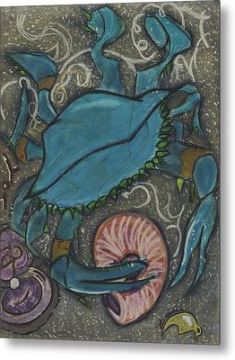 Blue Crab Metal Print by Stu Hanson