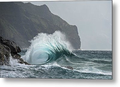 Blue Crash Metal Print by Jon Glaser