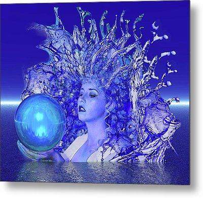 Blue Crystal Metal Print by Matthew Lacey