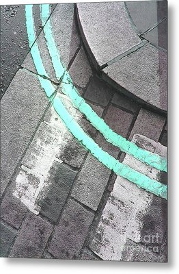 Metal Print featuring the photograph Blue Curb by Rebecca Harman