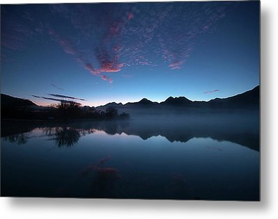 Metal Print featuring the photograph Blue Dawn by Odille Esmonde-Morgan