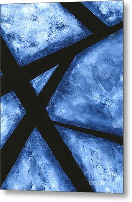 Blue Destiny An Original Contemporary Abstract Painting Original Art By Megan Duncanson Metal Print