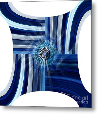 Blue Dimension  Metal Print by Thibault Toussaint