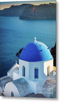 Blue Dome Metal Print by Inge Johnsson
